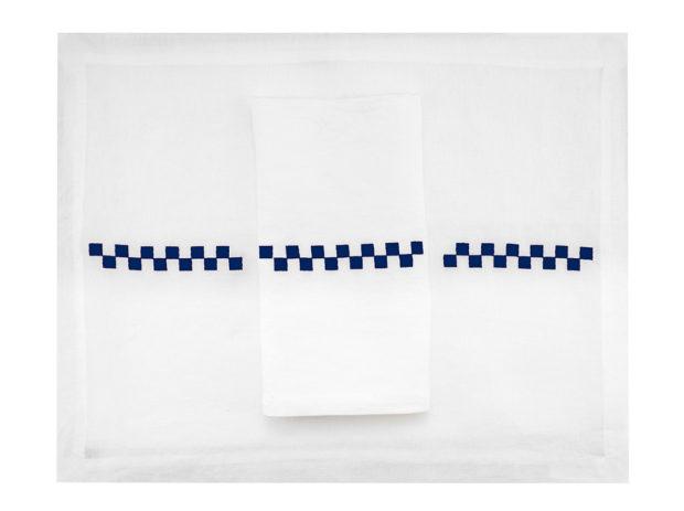 Phare-linge-de-table-set-serviette-damier-bleu–LIN-BRODE-FRANCE-MARIE-DE-FELS